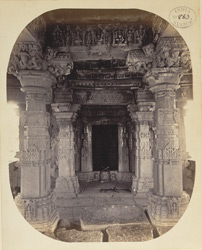Entrance to the shrine of the large temple, Satgaon, Buldana District, Berar